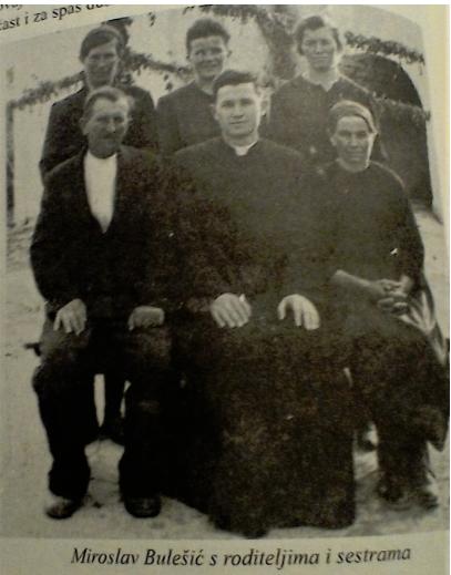 miroslav bulešić sa roditeljima i sestrama