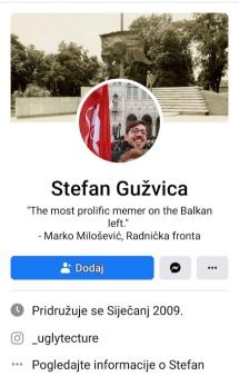 Facebook Stefan Gužvica